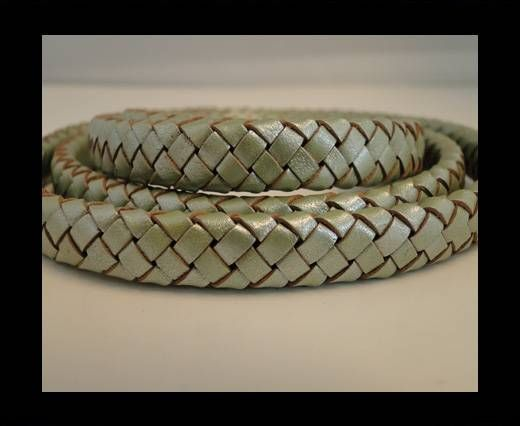 Oval Braided Leather Cord - SE-M-10