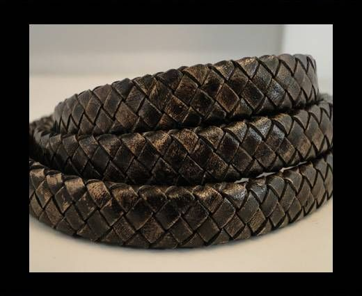 Oval Braided Leather Cord - SE-PB-13