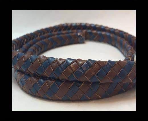 Oval Braided Leather Cord - SE.R.Dark Blue & SE.B.04
