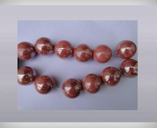 Ceramic Beads-16mm-Pink