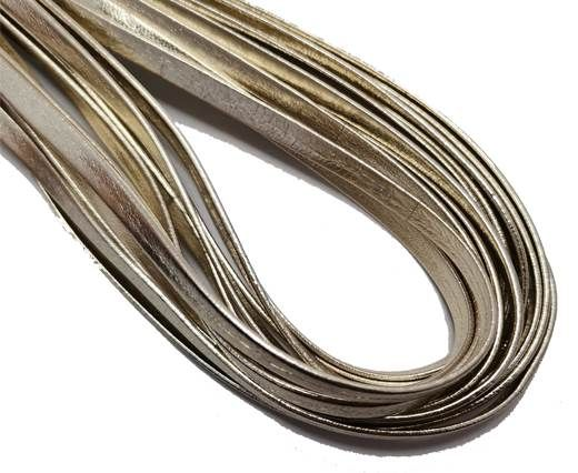 Flat Nappa Leather cords - 5mm - platinum