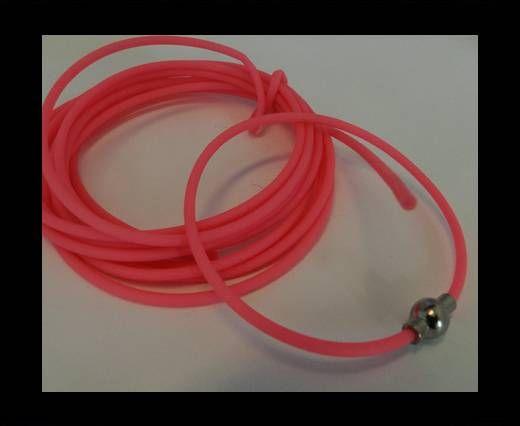 PVC-Round-2mm-Neon Pink