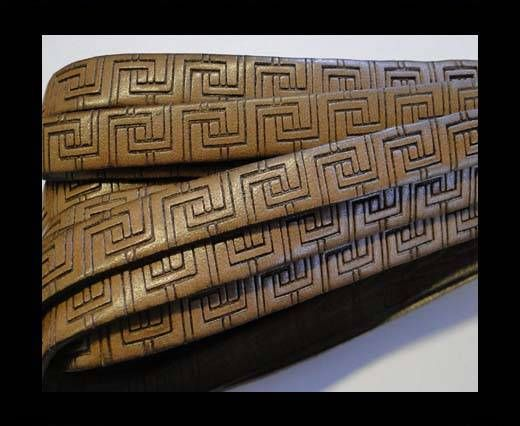Real Flat Leather-10MM-Papyrus style-Brown