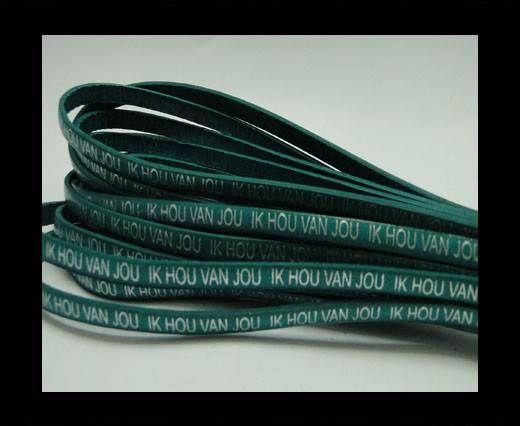 Real Flat Leather-5MM-IK HOU VAN JOU-silver-Turquoise