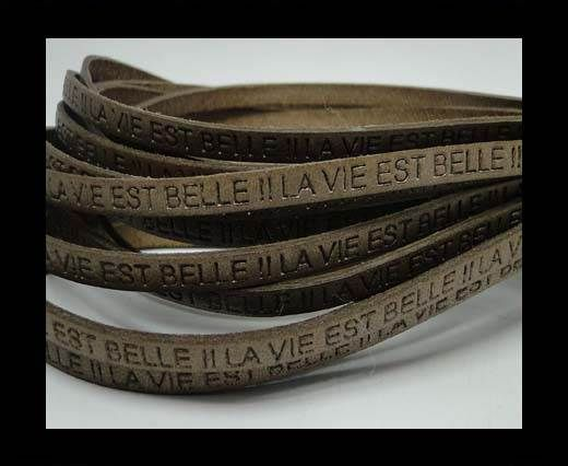 Real Flat Leather-LA VIE EST BELLE-Tortora