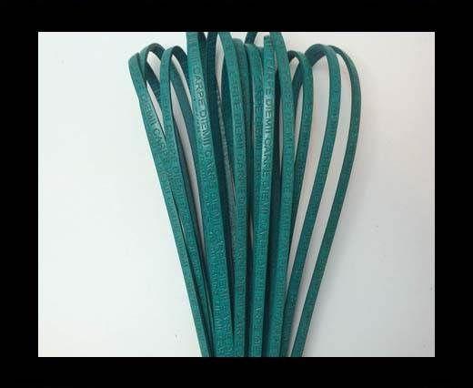 Real Flat Leather-CARPIDIEM-turquoise
