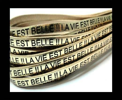 Real Flat Leather-LA VIE EST BELLE - Gold