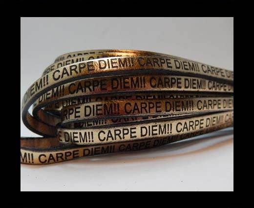Real Flat Leather-CARPIDIEM-gold