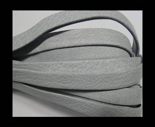 Real napa 10 mm Flat - Plain style White grey
