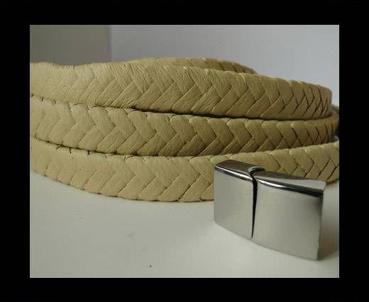 Real Nappa Flat Woven Cords - 15 mm - Yellow
