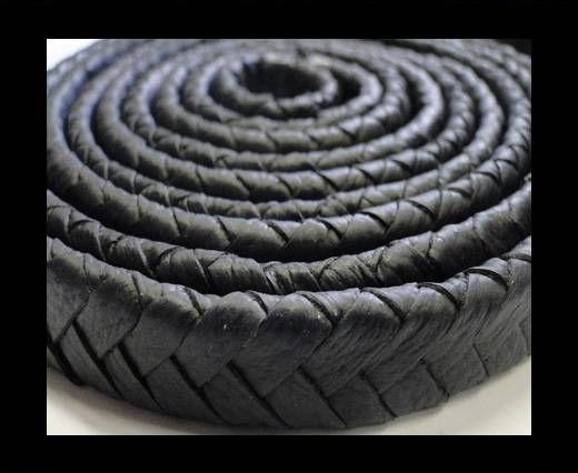 Real Nappa Flat Woven Cords - 15 mm - Dark blue