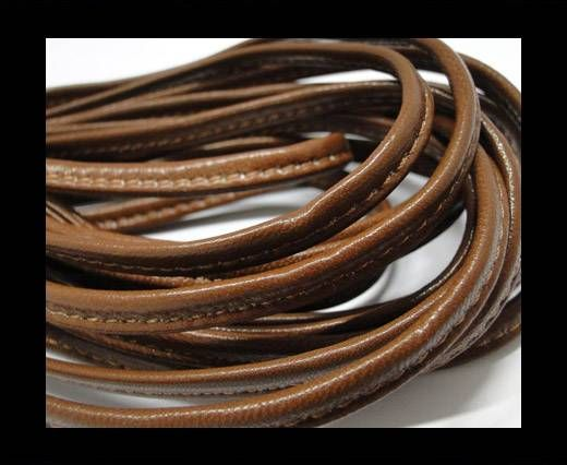 Real nappa leather stitched - 5mm - Brown