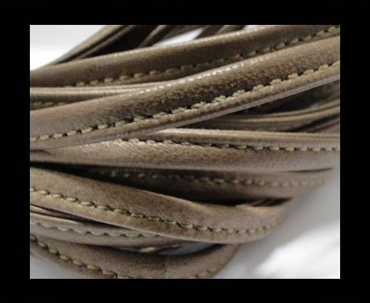 Real nappa leather stitched - 5mm - Dark Sepia