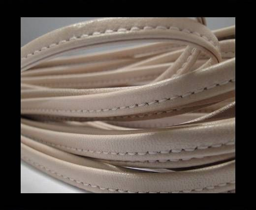 Real nappa leather stitched - 5mm - Vanilla