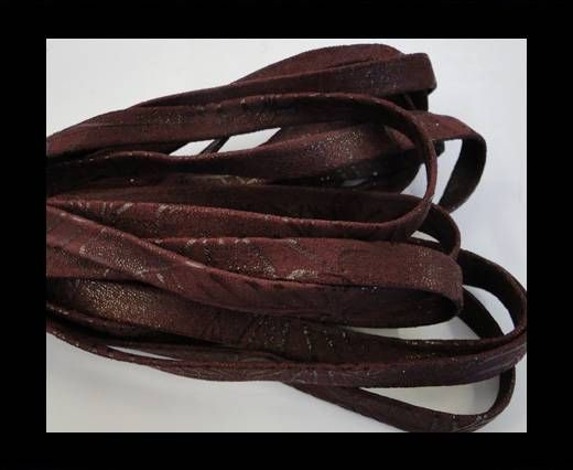 Real Nappa Leather Flat-10MM-Plain style-vintage bordeaux