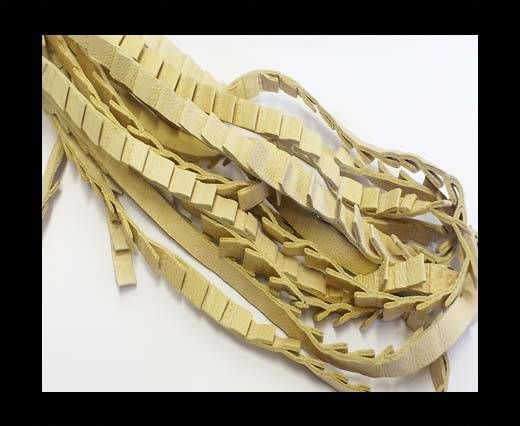 Real Nappa Leather - Ribbon Style-7mm-Beige