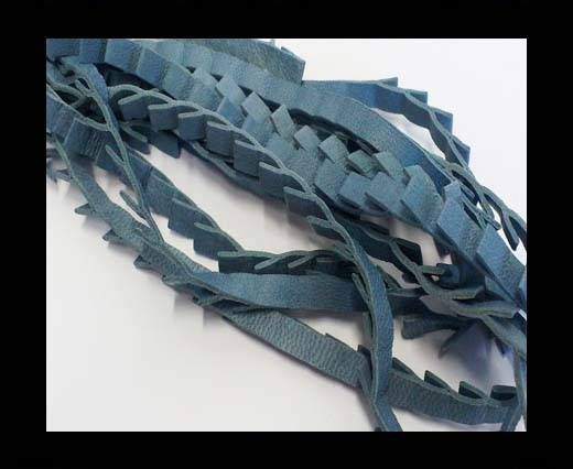 Real Nappa Leather - Ribbon Style-7mm-Blue Sky