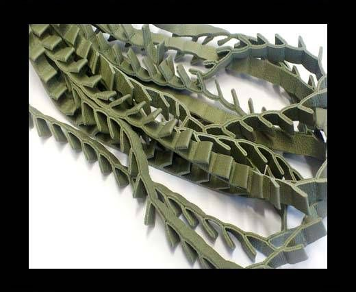 Real Nappa Leather - Ribbon Style-7mm-Grey