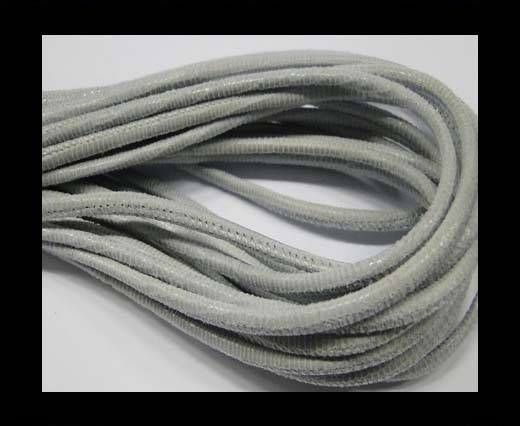 Real Nappa Leather Round-2.5MM-Lizard style-Light Grey