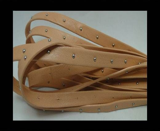 Real Nappa Leather with studs - 10mm - Apricot