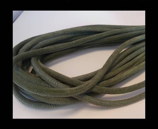 Real Nappa Suede Round-Asparagus-4mm