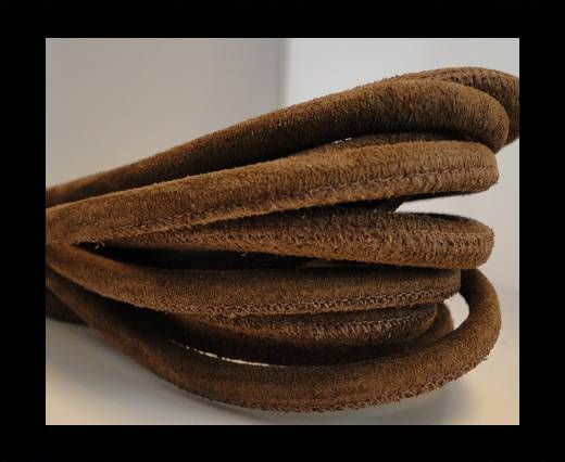 Real Nappa Suede Round-Brown -6mm