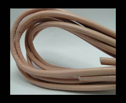 Real Round Nappa Leather cords - Salmon - 8mm