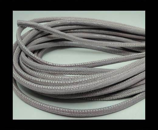 Real Round Nappa Leather cords-Lizard Prints-Rose Lizard- 4mm
