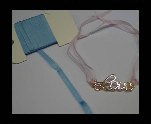 Real Silk Ribbons -A 123-Light Blue - 4mm
