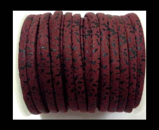 Rich style flat cords-5mm-Red