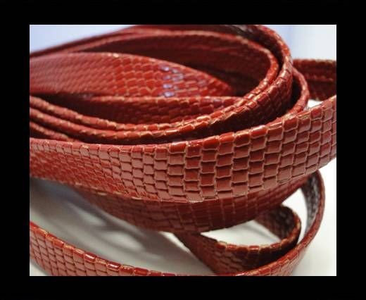 RNL - flat - Snake Style - Red - 10 mm