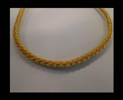 Coton rond tressé - Orange et jaune