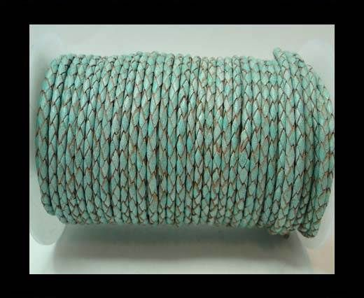 Round Braided Leather Cord-3mm- SE FBCW 20