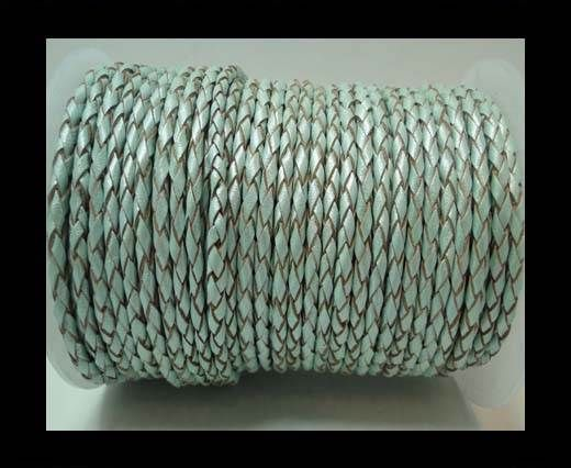 Round Braided Leather Cord-3mm- SE M 14