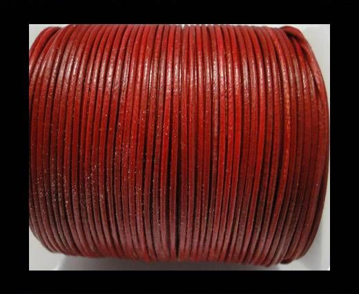 Round Leather Cord  SE-RED - 1mm