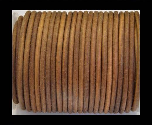 Round Leather Cord 4mm-Dark natural