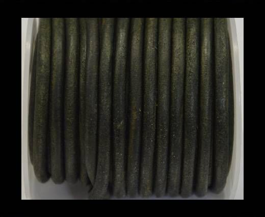 Cordon cuir Rond - Vintage Tourmaline - 5 mm