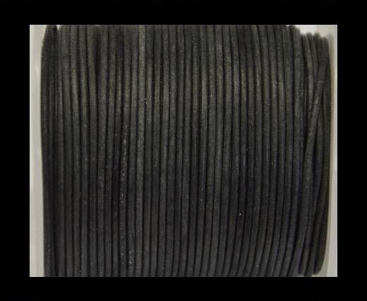 Cordon cuir Rond - Vintage Noir - 2mm