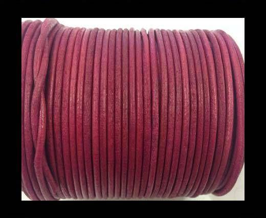 Cordon cuir Rond -Vintage Rose Foncé- 2mm