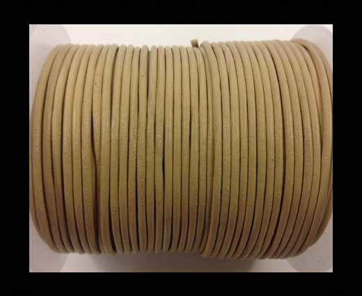 Round leather cord-2mm-pastel pearl