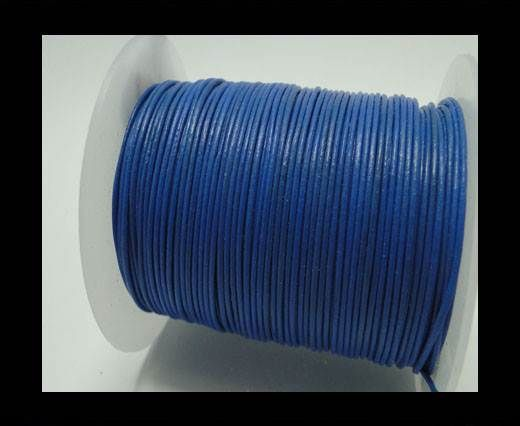 Round Leather Cord -1mm- Blue