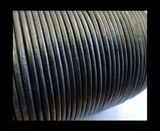 Round Leather Cord -1mm- SE R Metallic Grey