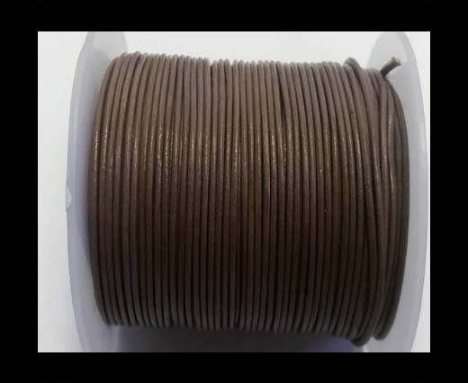 Round Leather Cord -1mm - SE Taupe