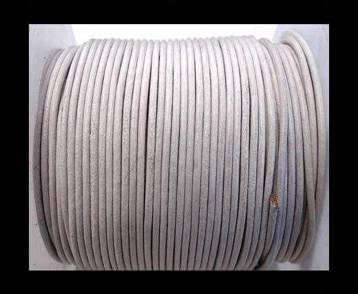 Cordon cuir Rond - SE/R/06/Blanc - 5 mm