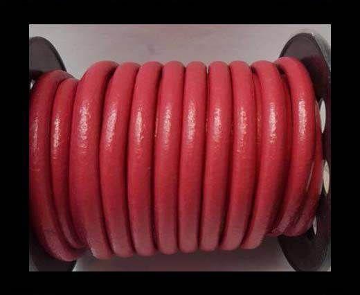 Cordon cuir Rond - Rose foncé - 5 mm