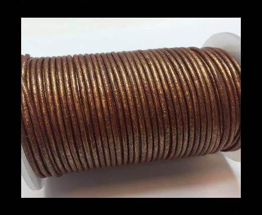 Round Leather Cord SE/R/Copper - 3mm
