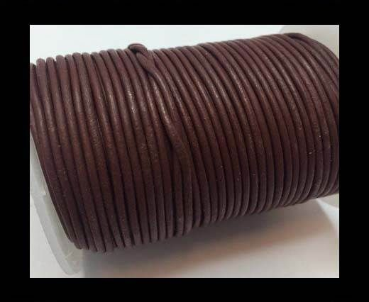 Round Leather Cord -1mm - Bordeaux