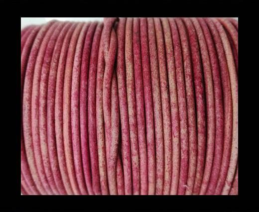Round leather cord-2mm-vintage pink