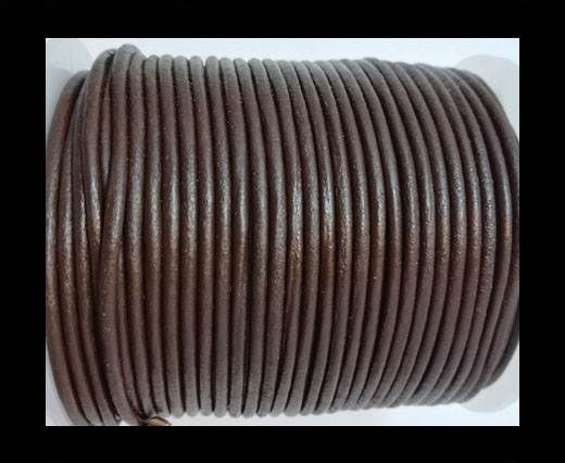 Round leather cord 2mm-BROWN