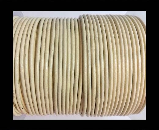 Round leather cord 2mm-IVORY